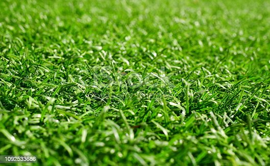474672896 istock photo Green grass football pitch 1092533686