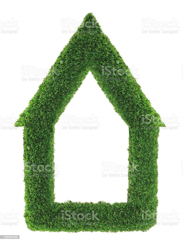 Green grass house royalty-free stock photo