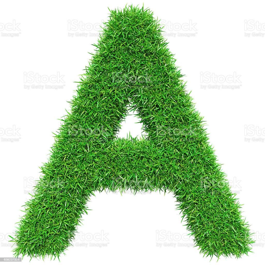 Green Grass Letter A stok fotoğrafı