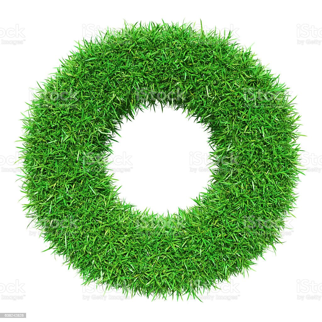 Green Grass Letter O Stock Photo More Pictures Of Alphabet Istock