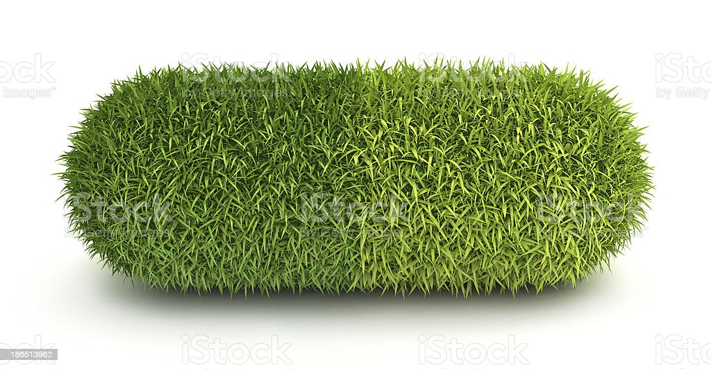 Green grass pill capsule royalty-free stock photo