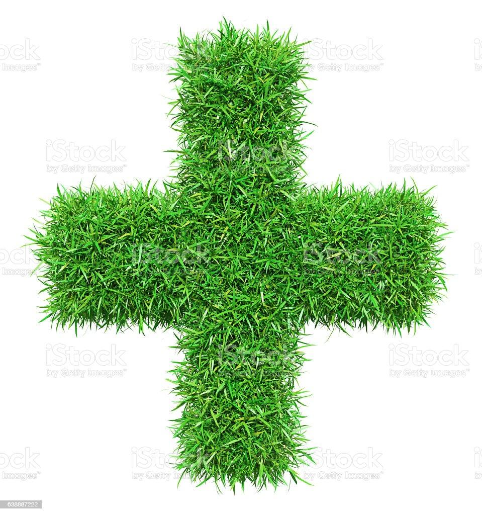 Green grass plus stock photo
