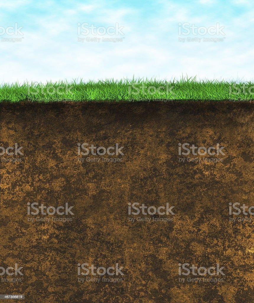 Green grass soil - texture surface stock photo