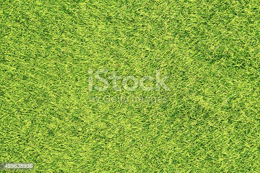 istock Green grass surface background 495638936