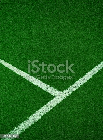 istock Green grass with side boundary textured background 937972620