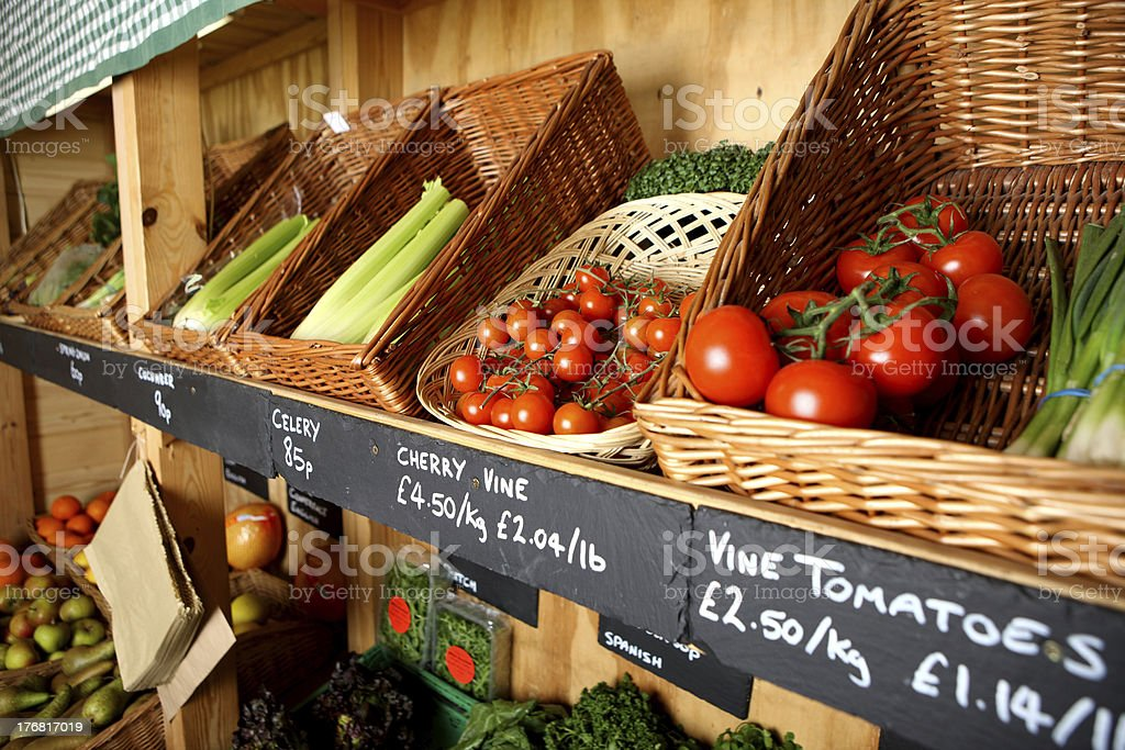 Green grocer's store royalty-free stock photo