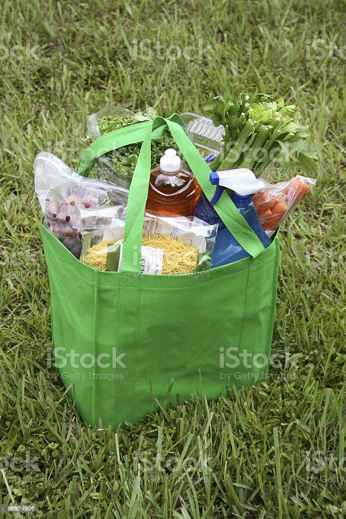 Green Grocery Bag royalty-free stock photo