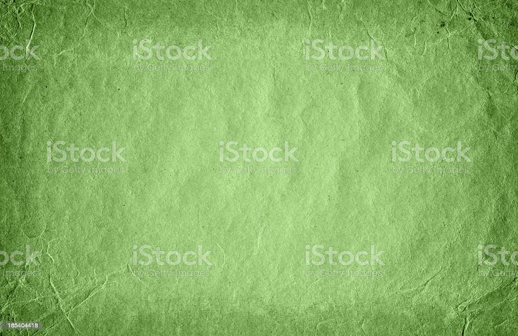 Green grunge paper texture (XXXXL) royalty-free stock photo