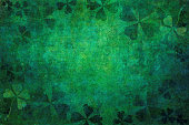 Green grunge shamrock background