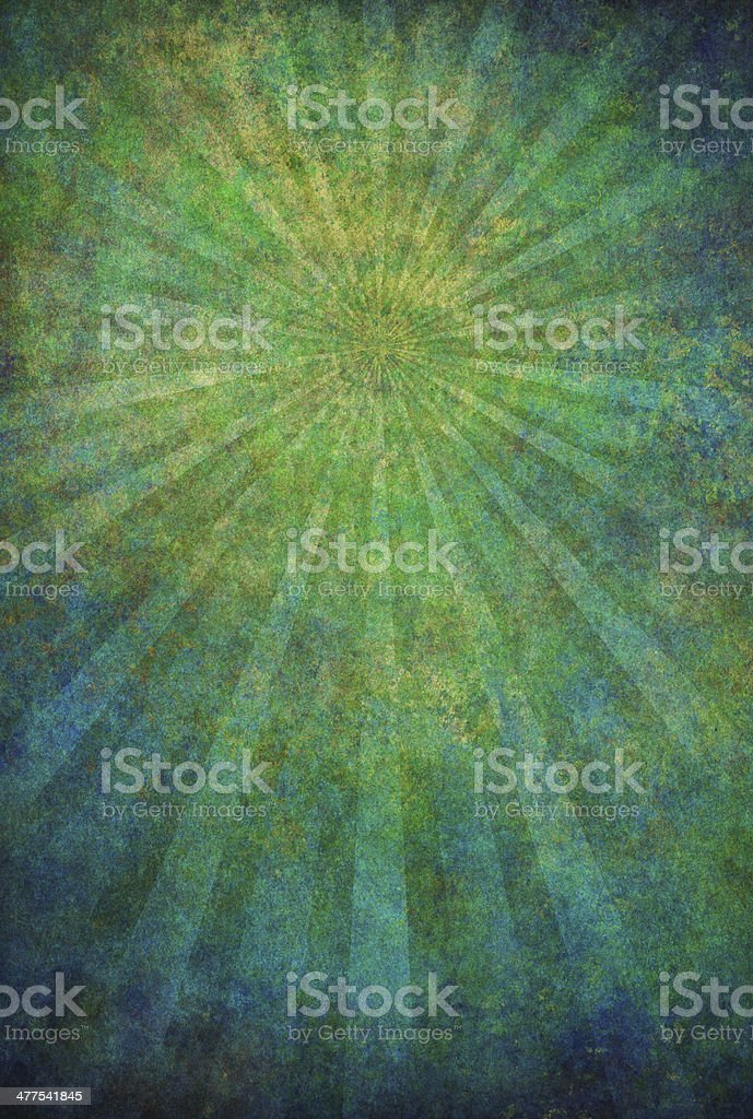 green grunge texture with sunrays royalty-free stock photo