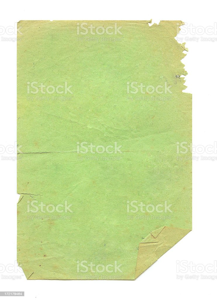 Green Grungy Paper royalty-free stock photo