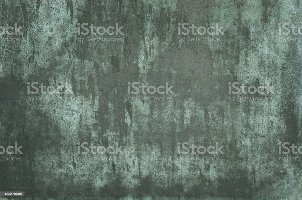 Green grungy verdigris texture royalty-free stock photo