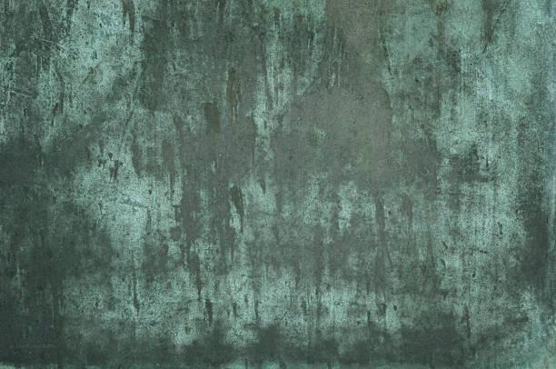 Green grungy verdigris texture stock photo