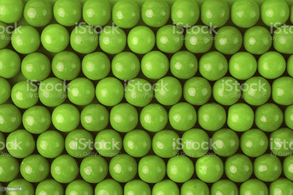 Green Gumball Background stock photo