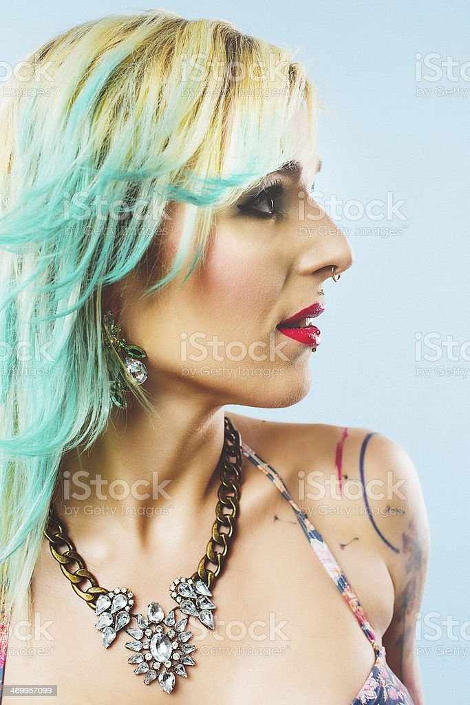 Green Hair Chalk Stock Photo More Pictures Of 20 29 Years Istock