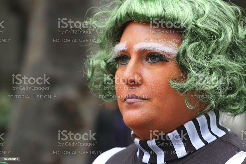 Green Hair royalty-free stock photo