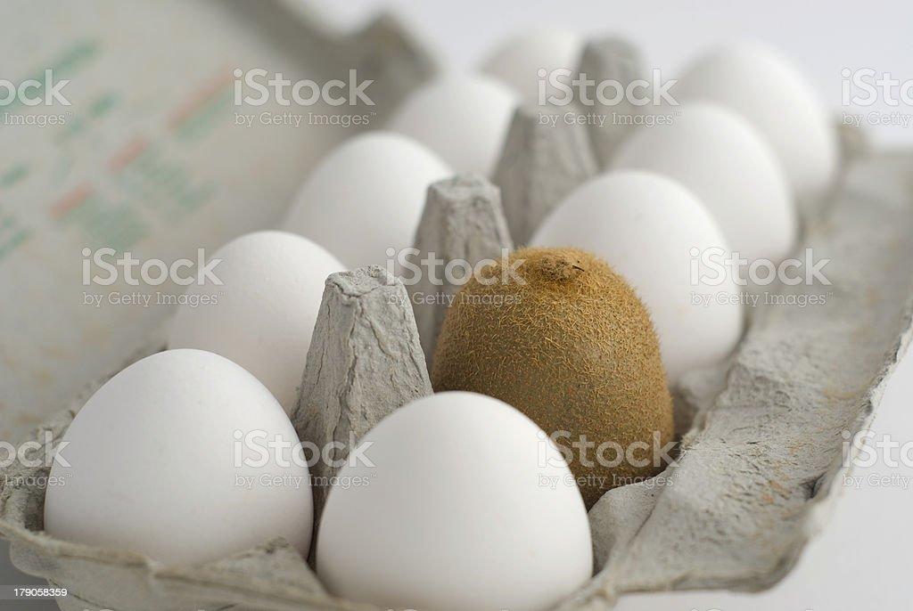 Green hairy egg royalty-free stock photo