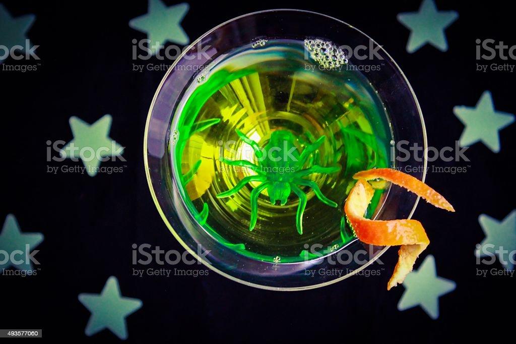 Green Halloween Drink stock photo