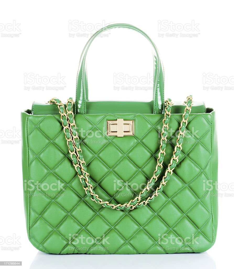green handbag stock photo