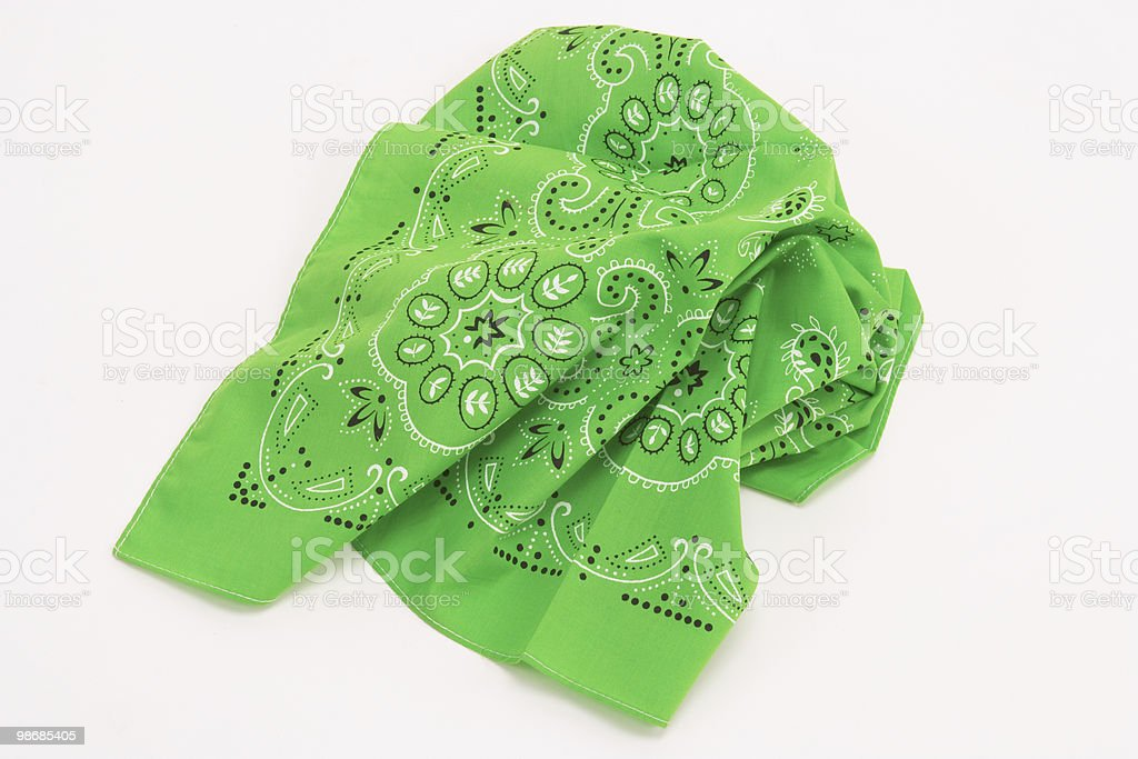 green handkerchief stock photo