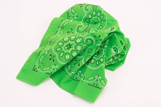 green handkerchief stock photo
