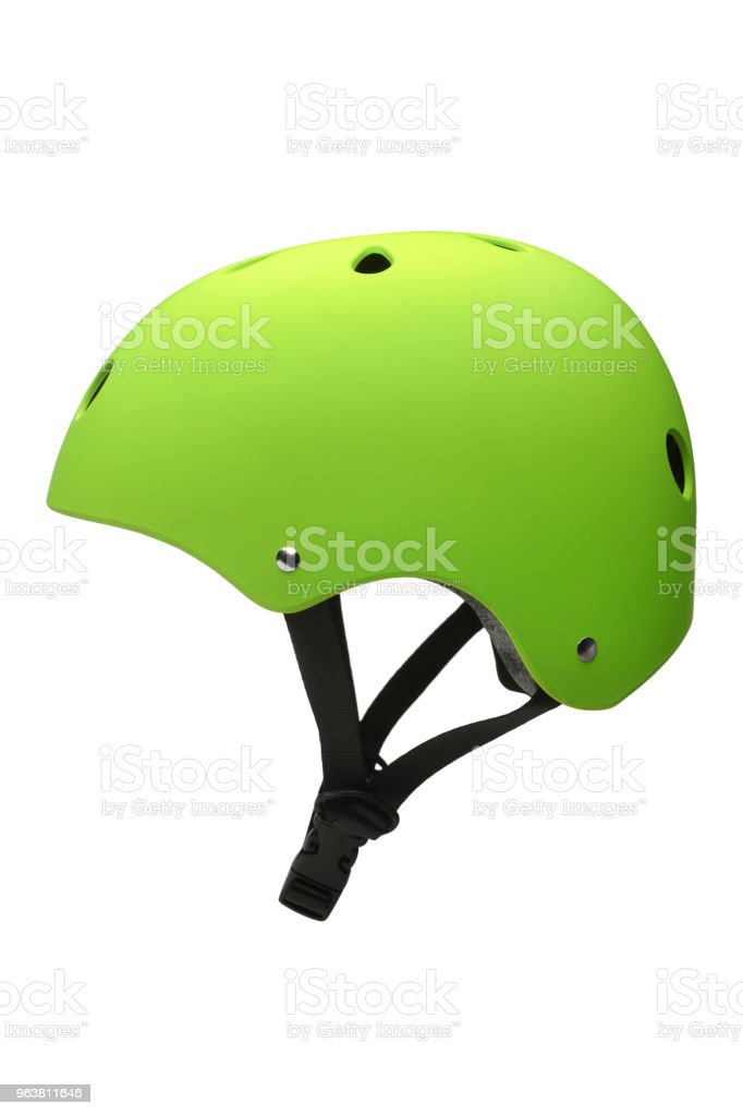 Green hard hat royalty-free stock photo