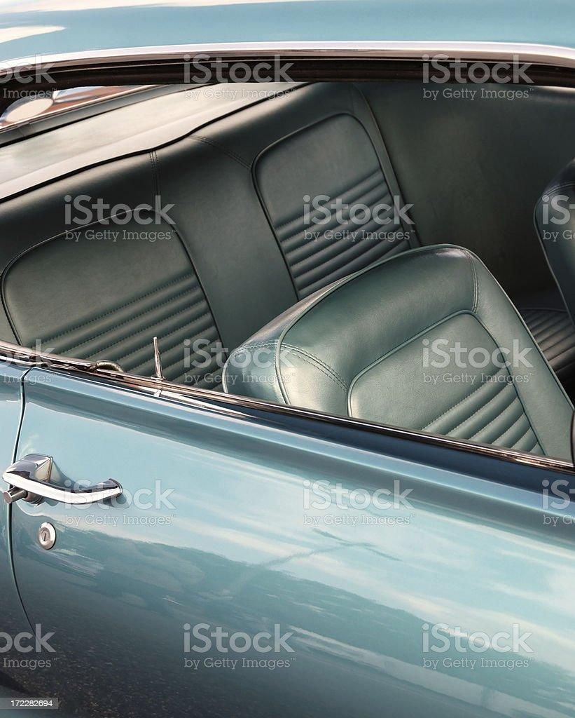green hatchback royalty-free stock photo