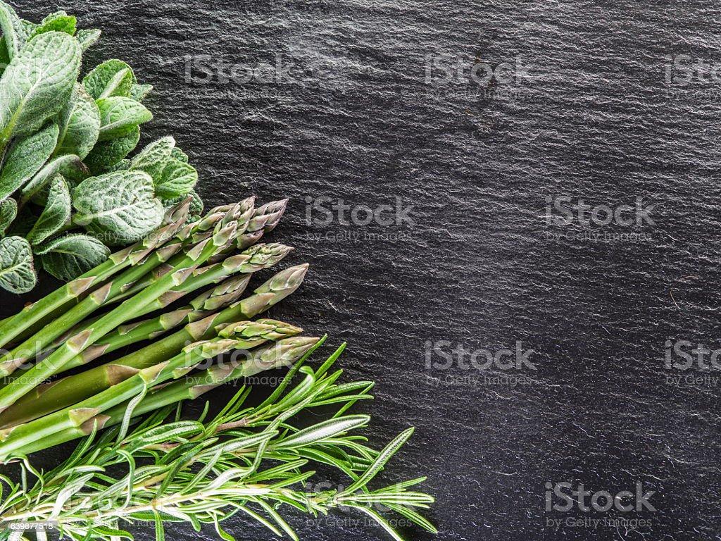 Green herbs. stock photo
