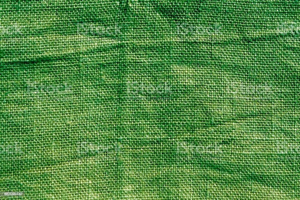 Green hessian sack cloth texture. stock photo