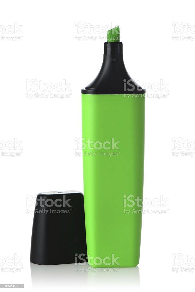 Green highlighter pen stock photo