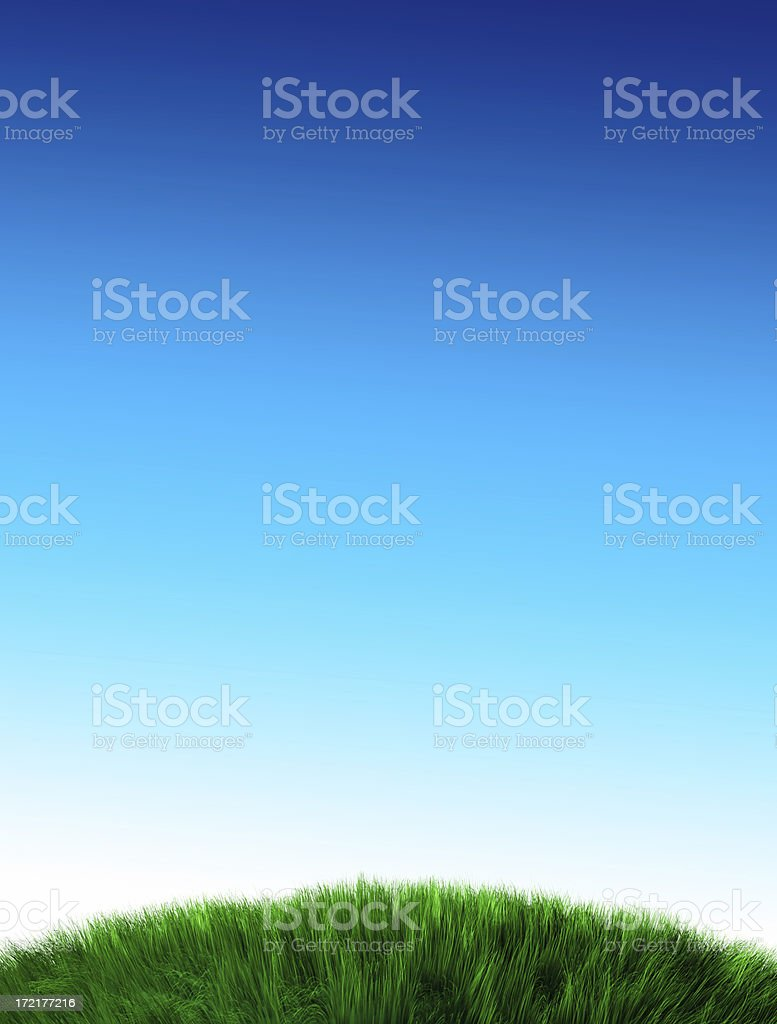 Green Hill and Clear Sky(XXL) royalty-free stock photo