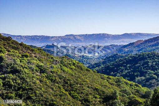 Green Hills in Calero County Park, Santa Cruz mountains, south San Francisco bay area, California