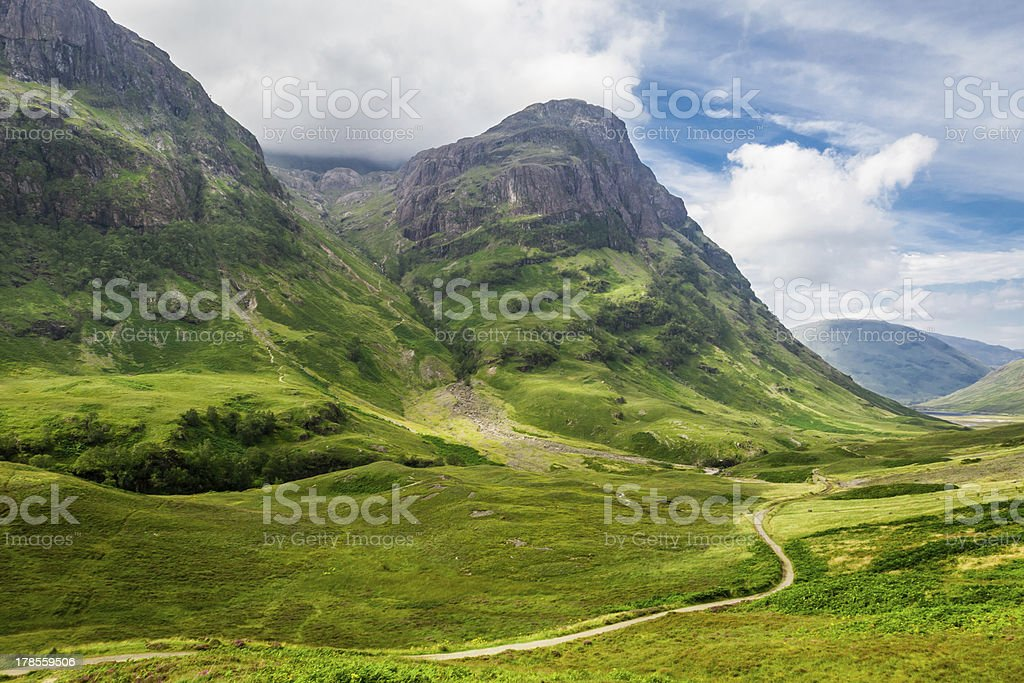 Green hills in the Scottish highlands stock photo