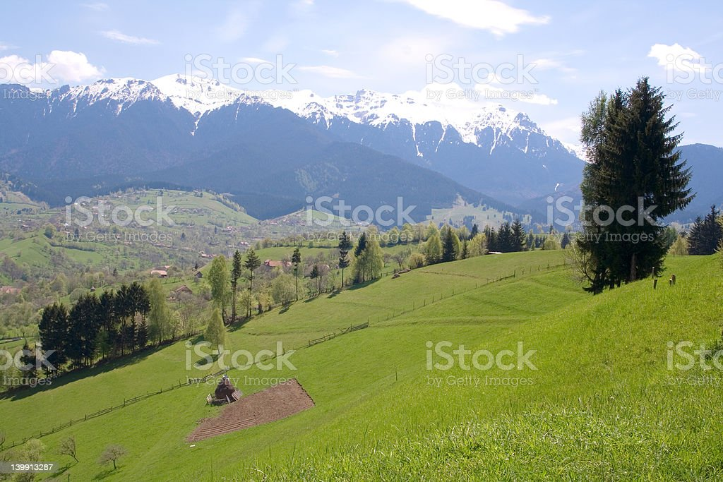 Green hills in Transylvania royalty-free stock photo