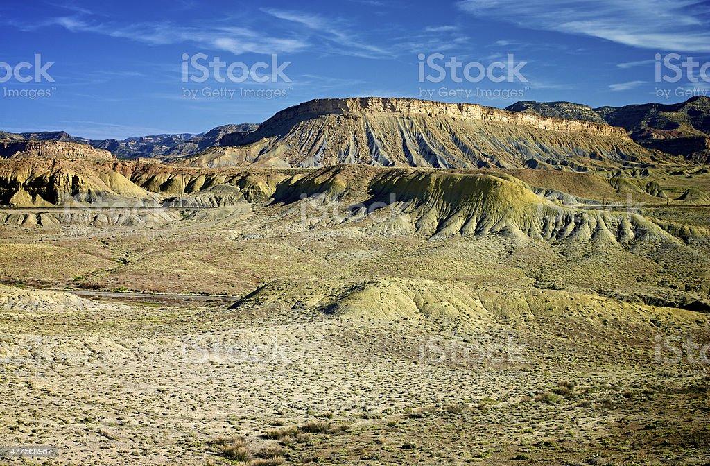 Green Hills of San Rafael Reef. stock photo