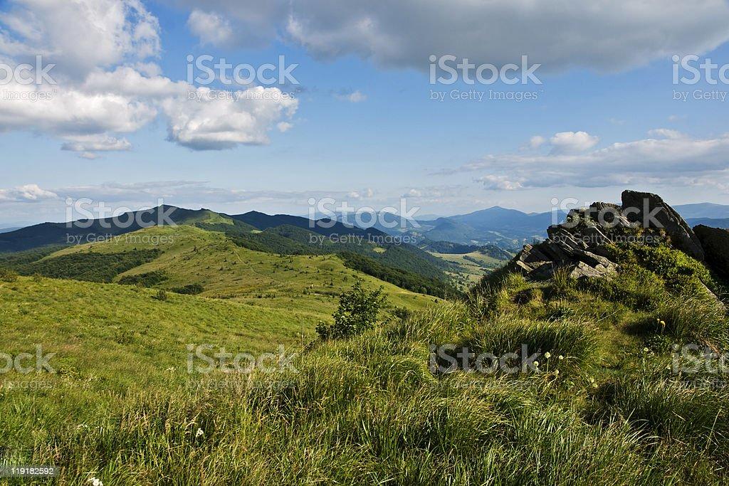 Green Hills royalty-free stock photo