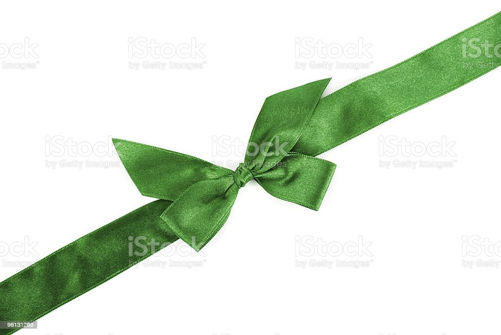 green holiday ribbon royalty-free stock photo
