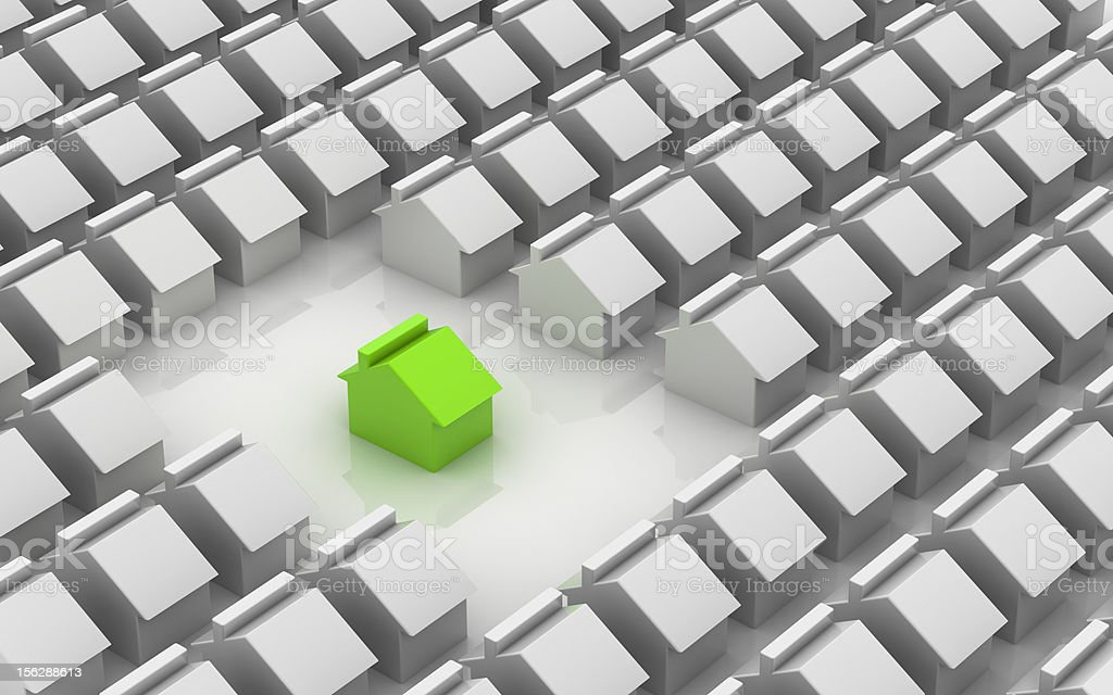 Green home: a good choice royalty-free stock photo