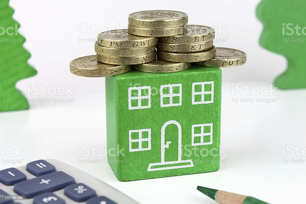 Green Home royalty-free stock photo