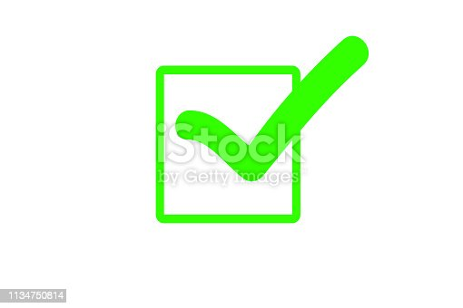 istock Green hook isolated 1134750814
