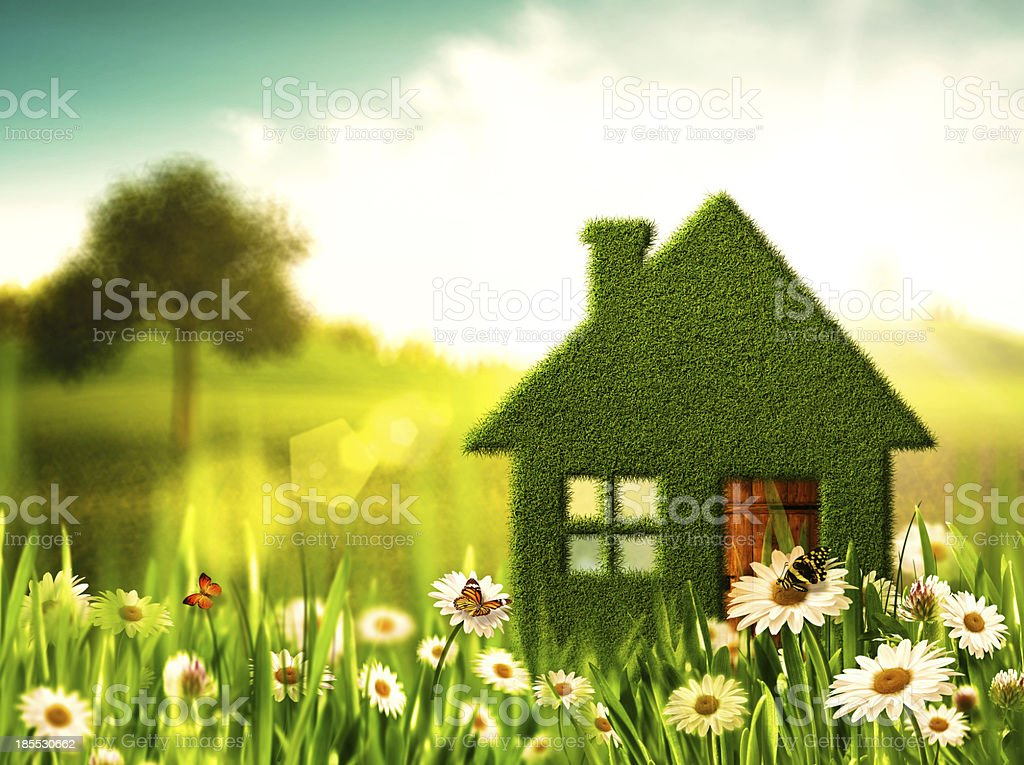 Green House. Abstract environmental backgrounds stock photo