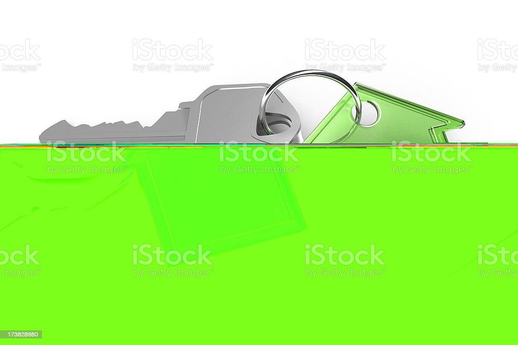 Green House and Keys royalty-free stock photo