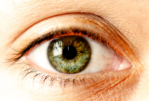 Green Human Eye Close Up Stock Photo - Download Image Now