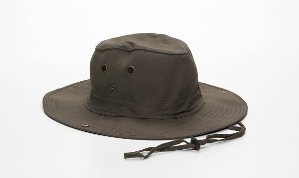 green hunter cap stock photo