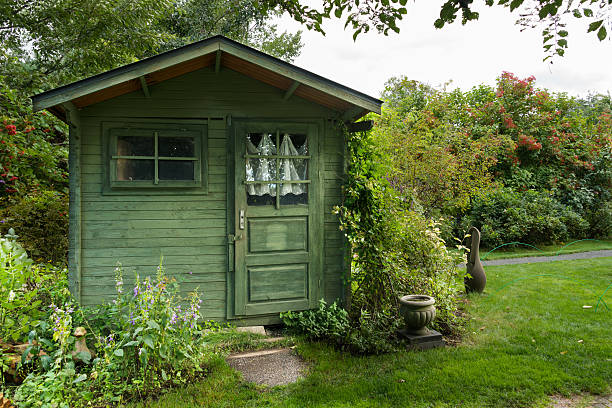 Green hut (XXXLarge) stock photo
