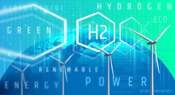 idrogeno verde: un'alternativa che riduce le emissioni e si prende cura del nostro pianeta. - idrogeno foto e immagini stock
