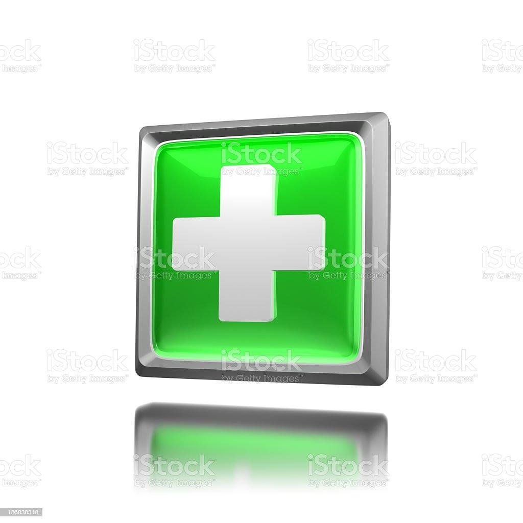 Green Icon - Plus stock photo