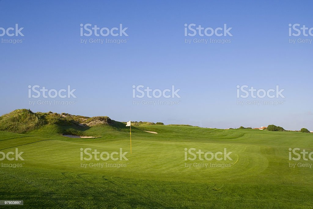 Green in a golf course royalty-free stock photo