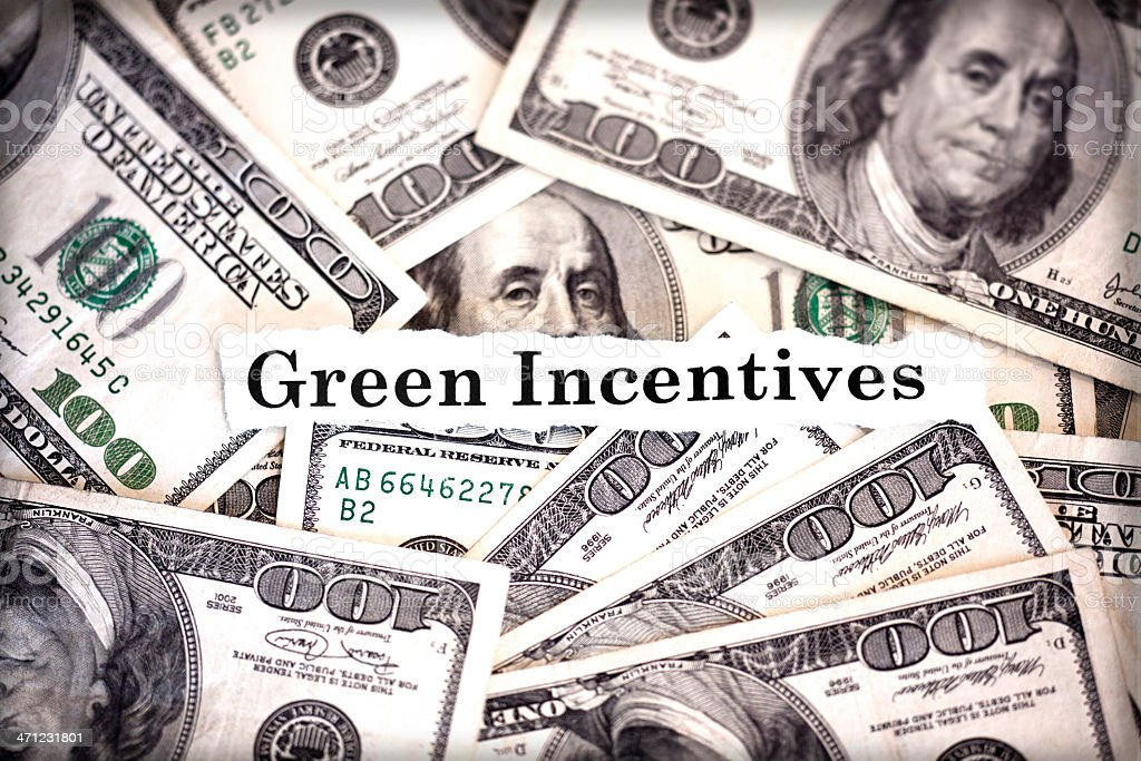 Green Incentives stock photo