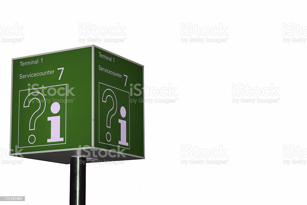 Green info sign royalty-free stock photo
